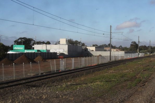 Work on a new car park on the south side of the line at Hoppers Crossing