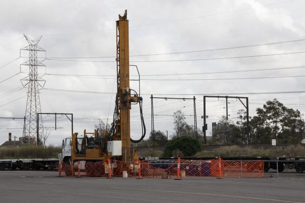 Soil testing rig at work in the Agent's Sidings at North Dynon