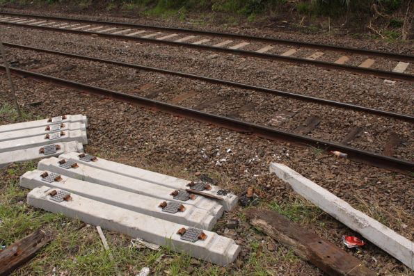 Low profile concrete sleepers at Hawksburn