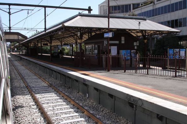New platform pit at Hawthorn station, renewed over the weekend