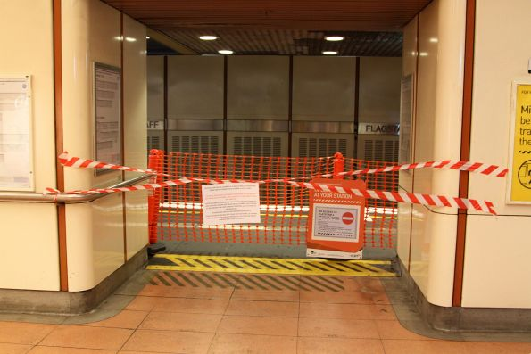 Trackwork in the Burnley Loop has closed platform 4 at Flagstaff station