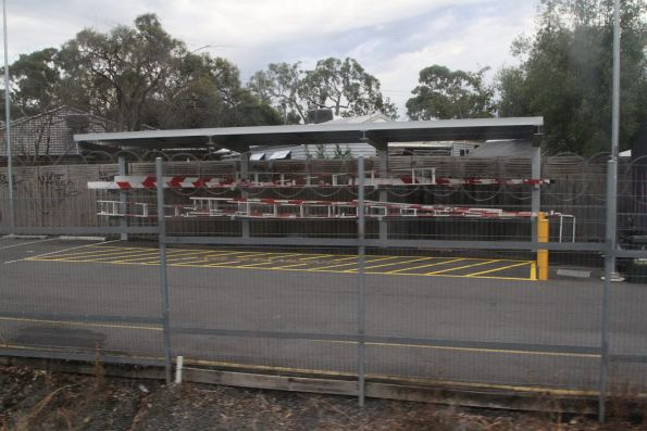 Spare boom gates stored at Ringwood