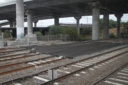 Hi-rail access pad covers three of six tracks at North Melbourne Junction