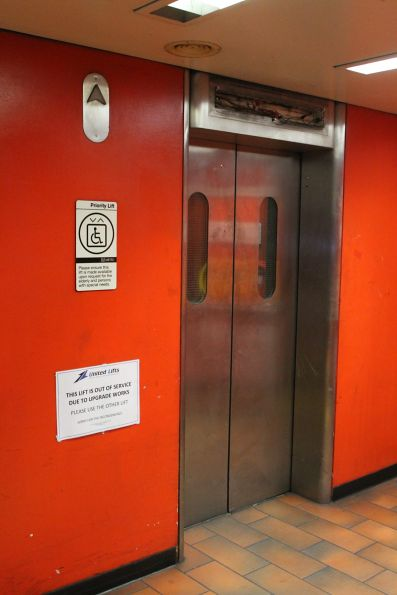 Lift under repair at Melbourne Central station