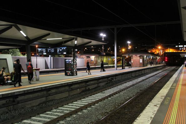 Relaid track at North Melbourne platform 4