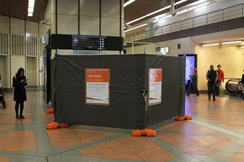 Lift upgrade works underway at Flagstaff station