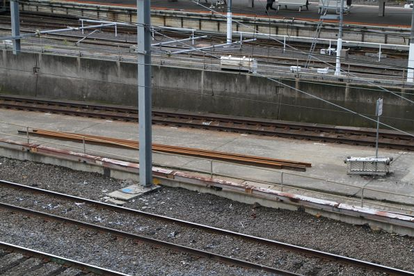 New lengths of rail between the Burnley and Clifton Hill Loop portals