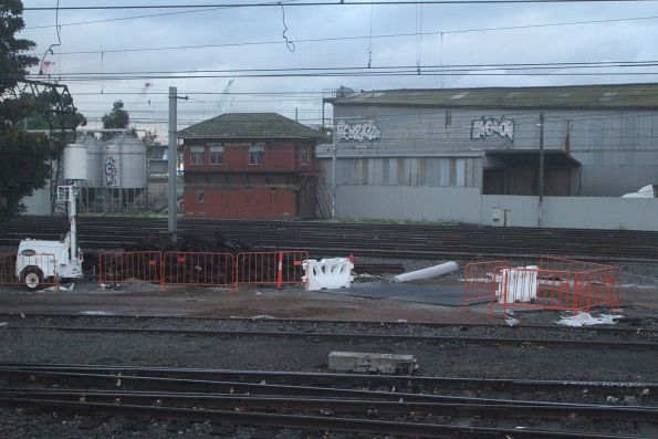 New level crossing going in at the up end of the North Melbourne stabling sidings