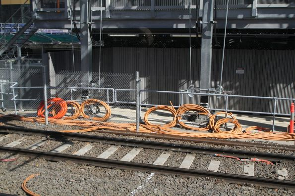 Bundles of new cable waiting to be installed at the new Viaduct Junction substation