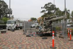 Geotechnical investigation works at the Sunshine station bus interchange
