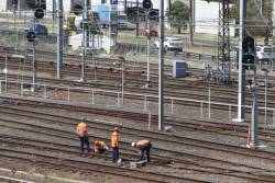 Metro Trains still inspect pointwork at Southern Cross