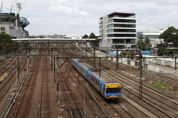3-car Comeng 636M passes through Richmond Junction on the down with a driver training run