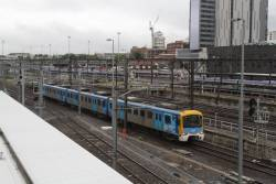 3-car Siemens train 752M arrives at Southern Cross with a driver training run