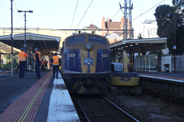 B76 at the city end of the spoil train at South Yarra