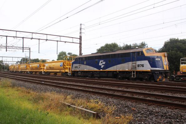 B76 stabled on the up end of a suburban ballast train at Caulfield