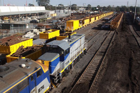 B76 and T376 stabled in the Wagon Storage Yard with all of the Metro works trains