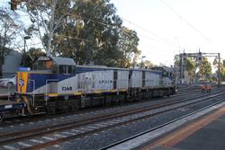 T373 and T369 at East Richmond, on the other end of the works train