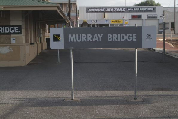 Station sign at Murray Bridge
