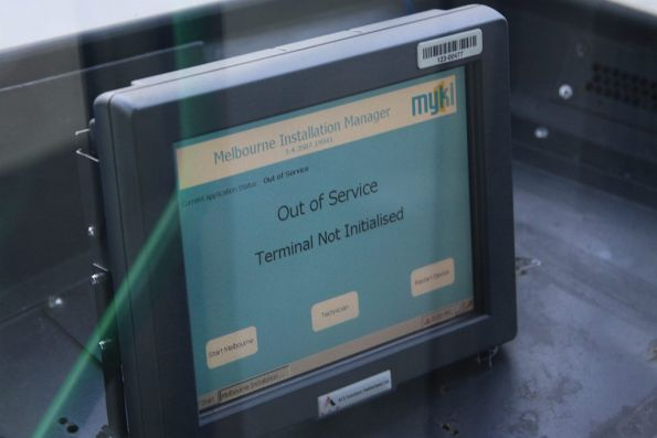 'Out of Service. Terminal Not Initialised' message on a Tram Driver Console