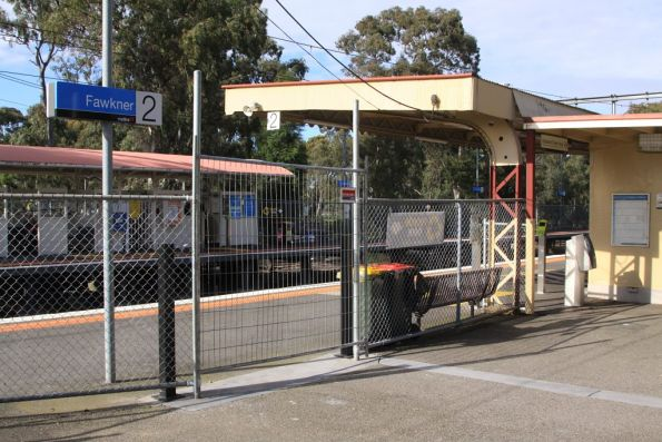 Additional station exit at Fawkner platform 2: still not in use