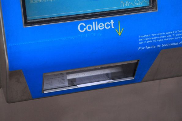 Unwanted receipts build up in a Myki ticket machine
