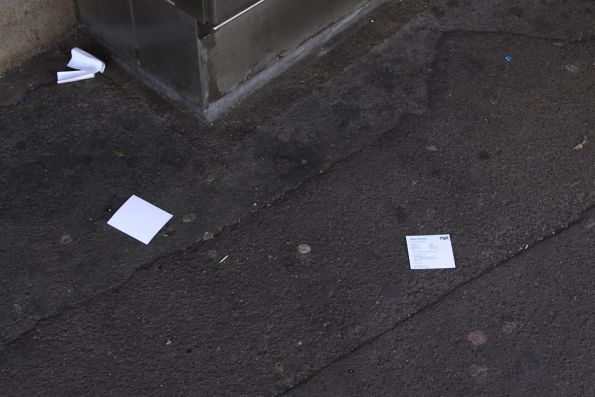 More abandoned Myki receipts, this time at Footscray