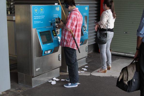 Unwanted receipts still littering the ground around Myki machines