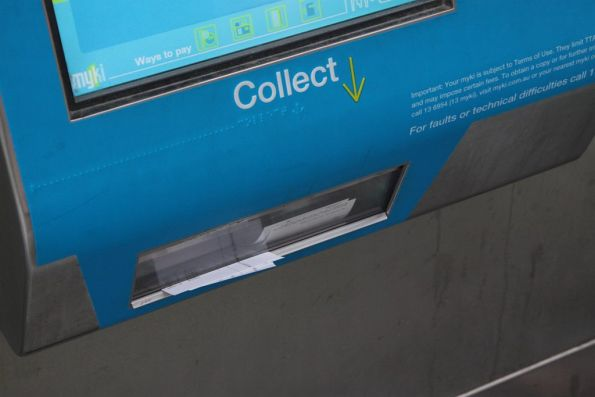 Myki ticket machines still filling up with unwanted receipts