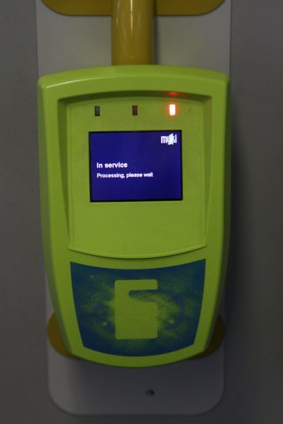 Myki reader on a Combino tram stuck on the 'In service' error message