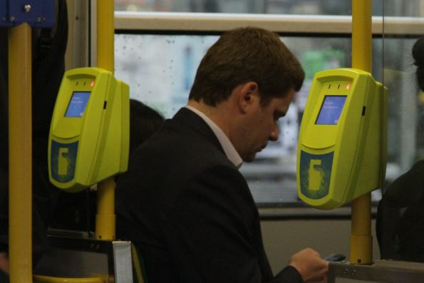 Another tram with every Myki reader non-functional