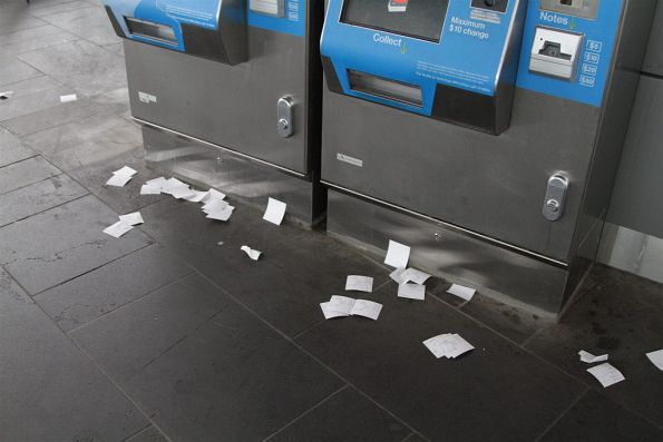 Unwanted receipts still pile up