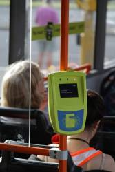 All the myki readers on the bus go to 'In service' at the same time