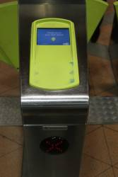 What looks to be a working myki reader, but it actually stopped responding 15 minutes ago