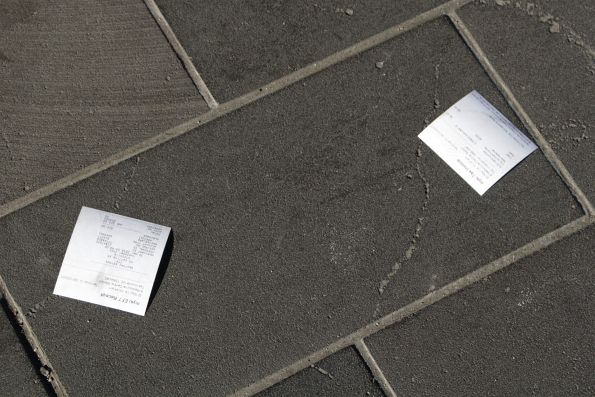 More discarded Myki receipts