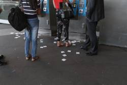 Unwanted myki receipts still pile up at Southern Cross