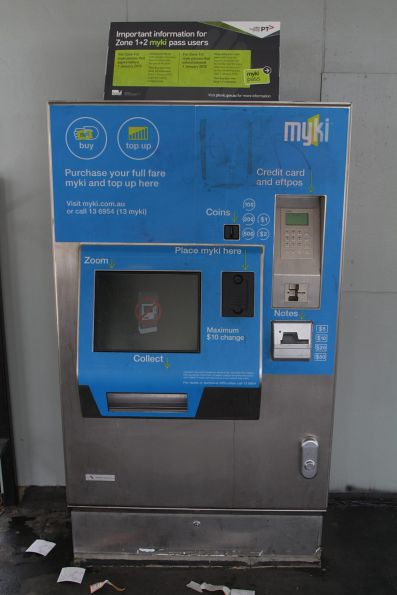 Out of service myki machine at Ruthven station