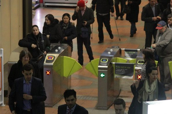 Another dud myki gate at Flagstaff station