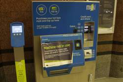 Defective myki machine out of service at Flinders Street Station