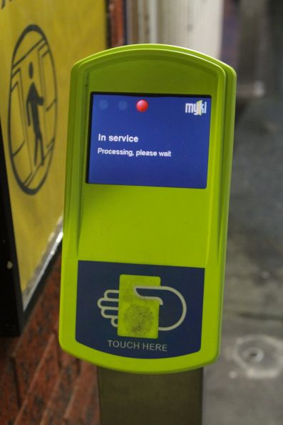 Return of the 'In service' error message on a defective Myki reader