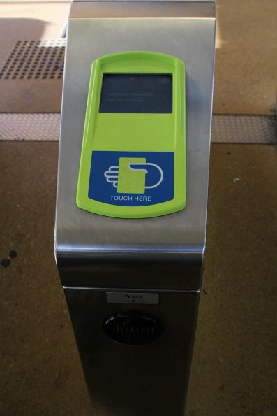 'Validation disabled. Gate out of service' message on a Myki gate