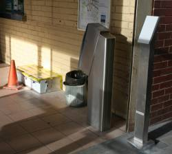 Newly installed Myki equipment at North Melbourne station
