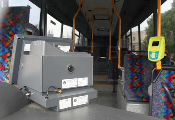 Myki equipment in McHarrys bus in Geelong