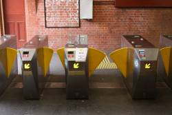 Ticket barriers at Glenferrie platform 3 now all with Myki