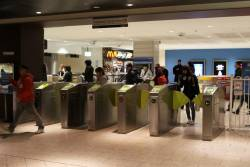 Myki barriers at Melbourne Central seeing light use in morning peak