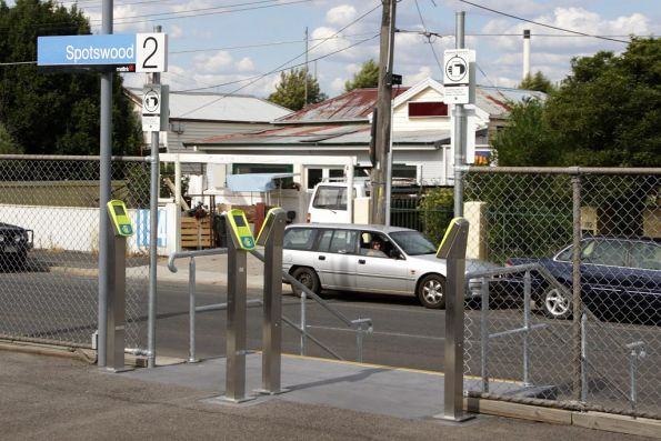 Four additional Myki FPDs installed on platform 2 at Spotswood