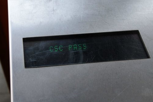 The useless 'CSC pass' message after successfully presenting a Myki to a Frankenbarrier