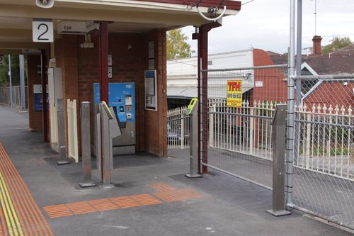 Myki CVM installed at Ascot Vale platform 2, plus three extra FPDs