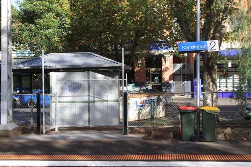 Additional station exit at Kensington platform 2: blocked up until Myki gear is installed