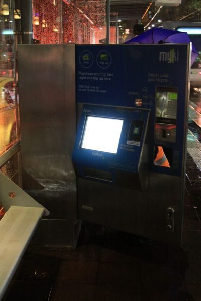 Front door of a Myki CVM opened up for servicing