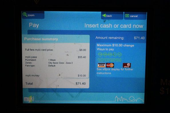 Dunno why, but you can - buy a new Myki, put a pass on it, and top up your balance